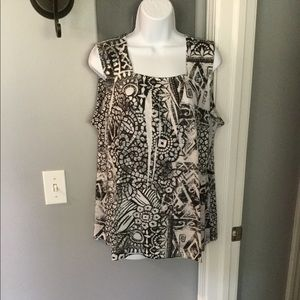 Style &Co black and white top